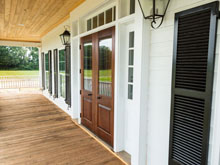 Mahogany Entrance for Coastal Residence