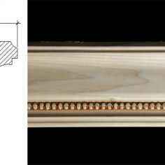 3042 3 3/4″ x 3 1/8″ Crown moulding with a simple millwork and a pellet pattern.