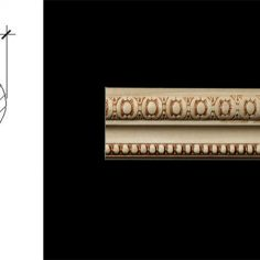3046 2 5/8″ x 11/16″ Moulding for use as a chair rail or a wall panel moulding features a stylized button pattern and a pellet detail.