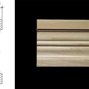 3096 4 7/8″ x 15/16″ Pilaster moulding with plain mill work for casing.