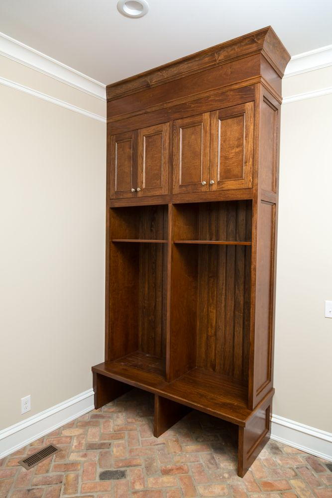 Custom Mudroom cupboard made for Darlington, SC Farmhouse