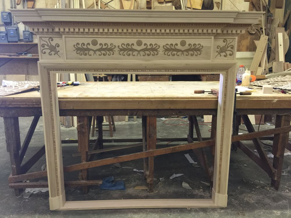 Almost ready for installation with this custom made Federal mantel