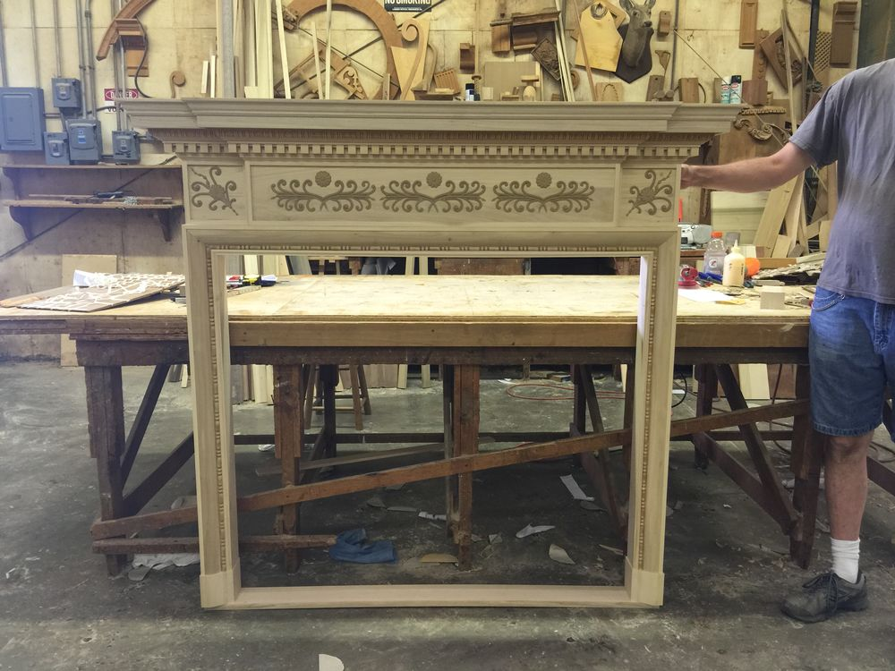Classical Federal style mantel created for home in Colorado